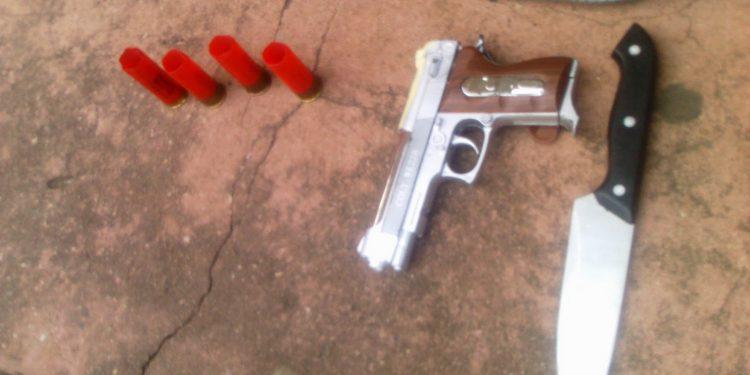 Security arrest armed man at Pent Hostel