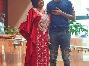 Nana Aba Anamoah's son starts University in the U.S