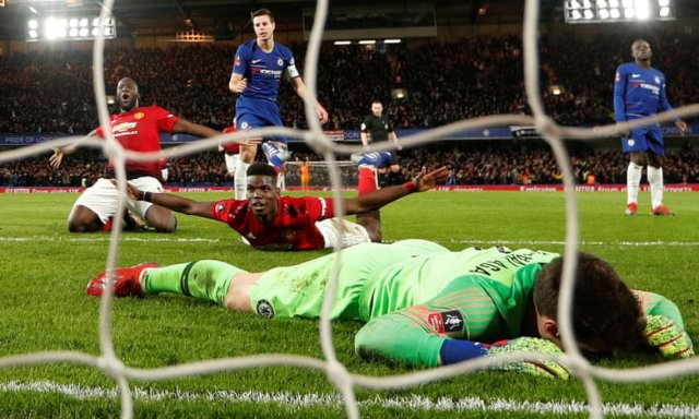 Manchester United knock holders Chelsea out of FA Cup