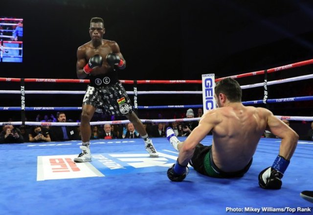 Ghana's Richard Commey is the new IBF lightweight champion