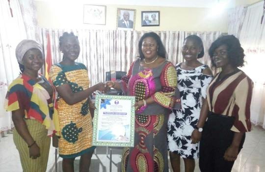 The Women Advocacy Network(WAN) Shows Appreciation to the MCE of Sunyani East Municipal, Hon. Evelyn Ama Kumi- Richardson