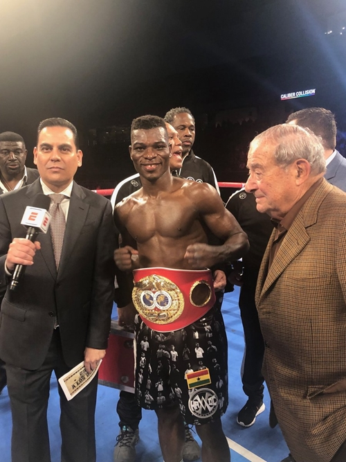 Isaac Dogboe Congratulates Richard Commey for winning world IBF lightweight title